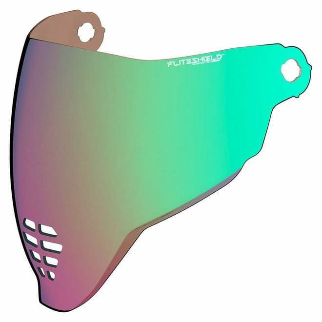 Icon Airflite Fliteshield Genuine Replacement Anti-fog Visor RST Green Iridium