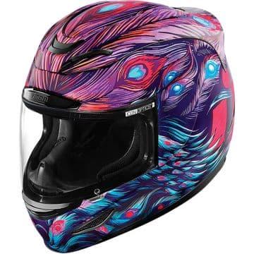 Icon Airmada Opacity Pink Purple Blue Motorcycle Motorbike Helmet XXS 2XS