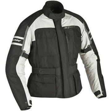 Ixon Colorado Waterproof Textile Motorcycle Motorbike Jacket - Black / Grey