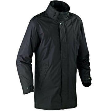 Ixon Concorde Waterproof Urban Motorcycle Motorbike Textile CE Jacket - Black