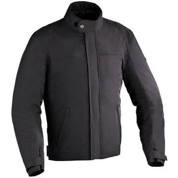Ixon Eaton Short Urban Motorcycle Motorbike Textile CE Armoured Jacket - Black