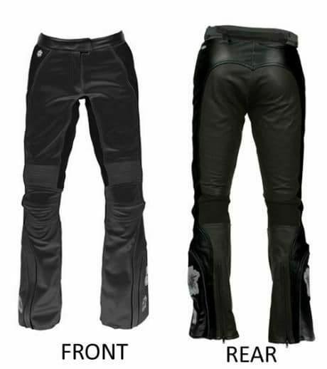 Joe Rocket Trixie Ladies Womens Leather Motorcycle Motorbike Pants Jeans Trouser