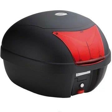 Kappa K28BAS Monolock Motorcycle Motorbike Top Box Case 28 Litre Red Reflectors