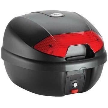 Kappa K30N Monolock Motorcycle Motorbike Top Box Case 30 Litre Red Reflectors