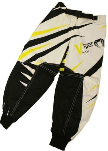 KIDS Child Childrens Motocross Trousers Pants Race MX Quad Sport 7 to 8 - Yellow
