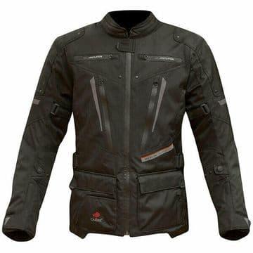 Merlin Carbon Outlast Waterproof Windproof Motorcycle Motorbike Jacket - Black