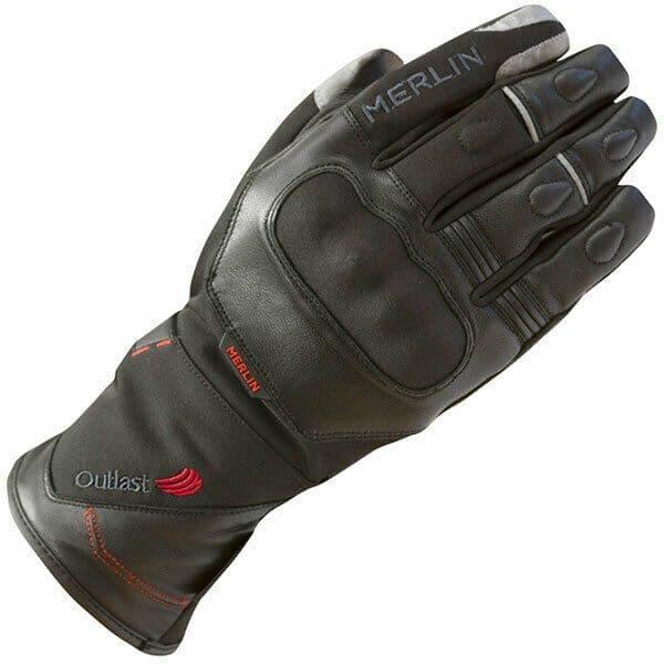 Merlin Saros Outlast Mixed Leather Textile Waterproof Motorcycle Motorbike Glove
