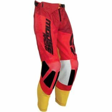 Moose Racing S19 M1 Motocross MX Offroad Pants - Red / Yellow