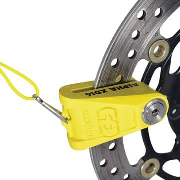 Oxford Alpha XD14 Ultimate Motorcycle Disc Lock 14mm pin Yellow