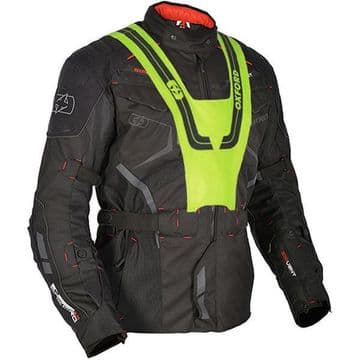 Oxford Ankara Long Waterproof Textile Motorcycle Jacket - Black