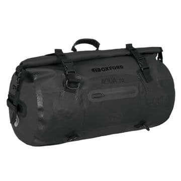 Oxford AQUA T-70 Waterproof Motorcycle Motorbike 70 Litre Roll Bag - Black