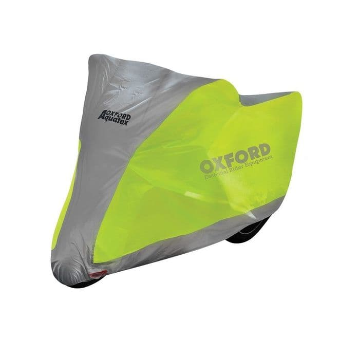 Oxford Aquatex Motorcycle Scooter Fluorescent Hi Viz Waterproof Cover - Large