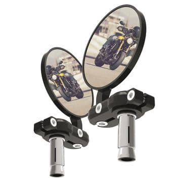 Oxford BarEnd Motorcycle Mirrors - Black Set  OX577