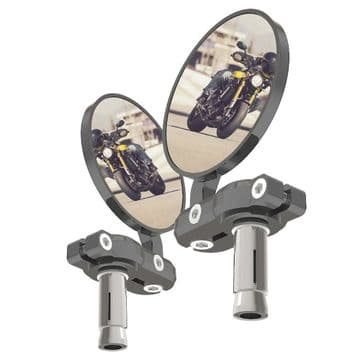 Oxford BarEnd Motorcycle Mirrors - Silver Set  OX578