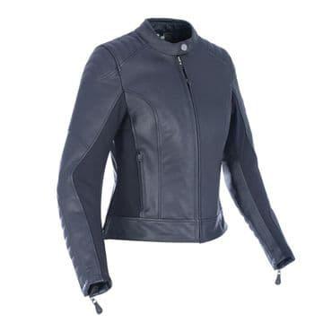 Oxford Beckley Womens Ladies Leather Motorcycle Motorbike Jacket Black UK12