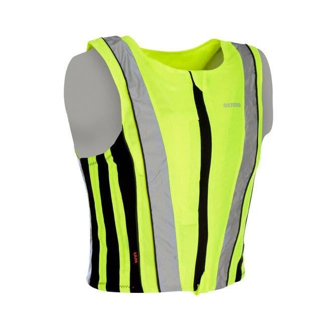 Oxford Bright Top Active Hi-Viz High Visibility Motorcycle Motorbike Safety Vest