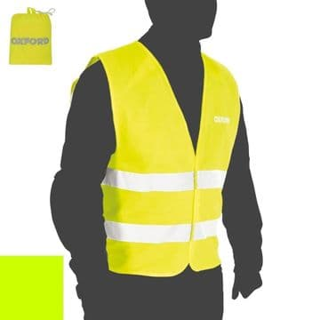 Oxford Bright Vest Packaway High Visibility Breathable Waistcoat Jacket L/XL