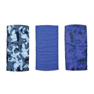 Oxford Comfy 3 Pack Neck Scarf Warmer Tube Bandana Balaclava Havoc Blue NW151