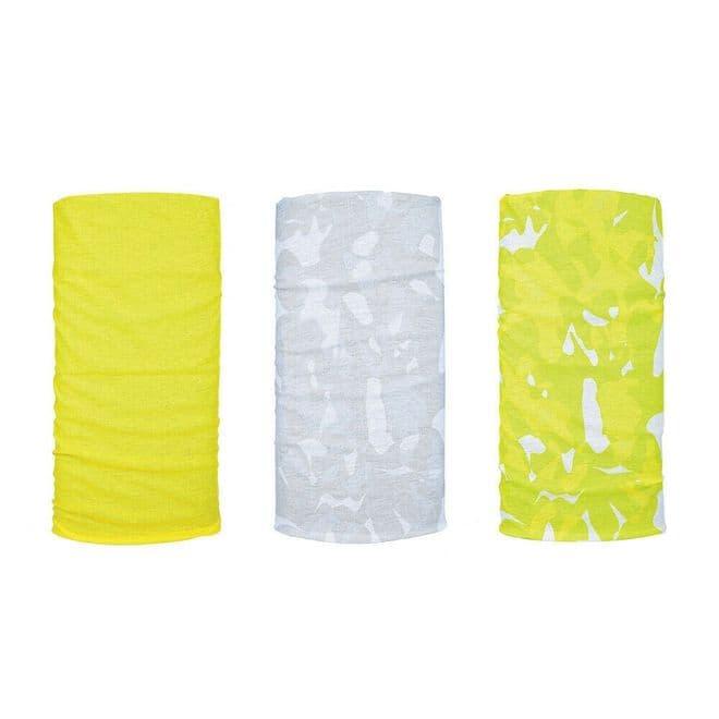Oxford Comfy 3 Pack Neck Scarf Warmer Tube Bandana Balaclava Havoc Fluo NW152