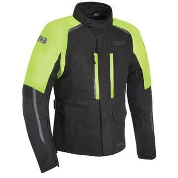 Oxford Continental Advanced Waterproof Motorcycle Motorbike Jacket Black Fluo