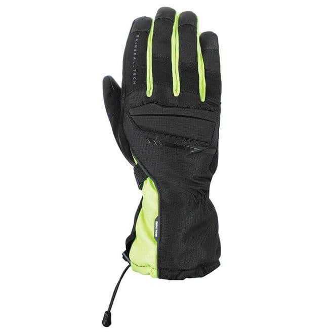 Oxford Convoy 2 Waterproof Motorcycle Motorbike Winter Gloves Stealth Black Fluo