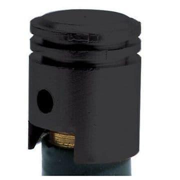Oxford Essential Lightweight Anodised Piston Valve Caps Dust Caps - Black