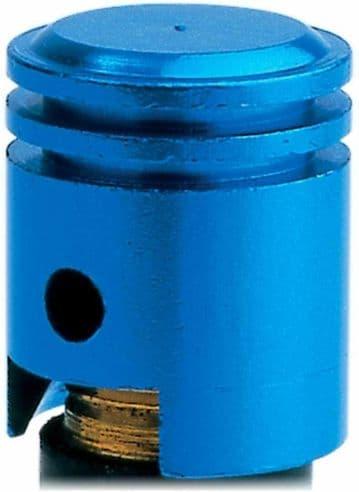 Oxford Essential Lightweight Anodised Piston Valve Caps Dust Caps - Blue