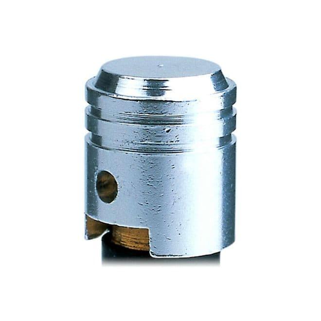 Oxford Essential Lightweight Anodised Piston Valve Caps Dust Caps - Silver
