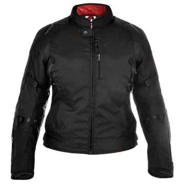Oxford Girona Women's Ladies Waterproof Textile Jacket Stealth Black