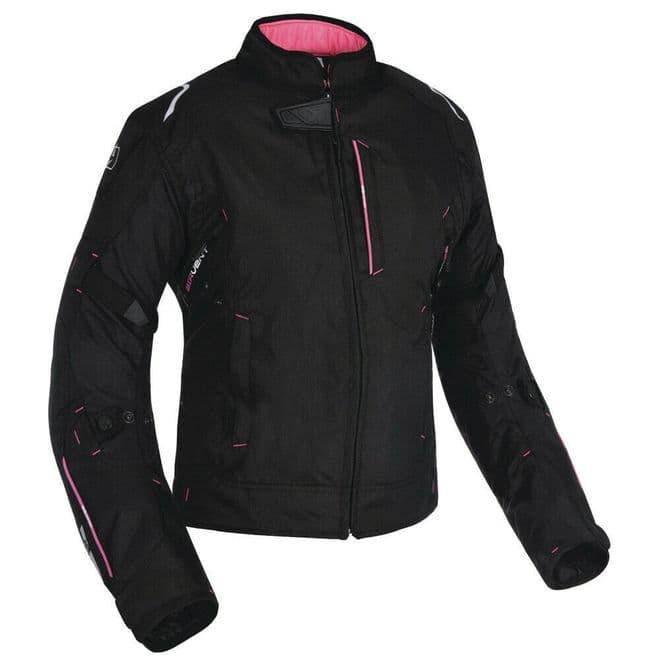 Oxford Girona Women's Ladies Waterproof Textile Motorbike Jacket Tech Pink