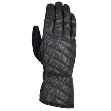 Oxford Heritage Somerville Leather Women's Motorcycle Motorbike Gloves Black