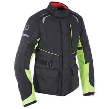 Oxford Metro 1.0 Black & Fluo Waterproof Motorcycle Jacket New for 2018