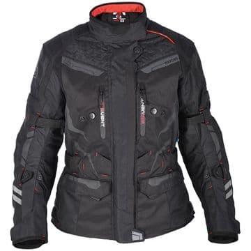 Oxford Monaco Womens Waterproof Long Motorcycle Jacket Tech Black