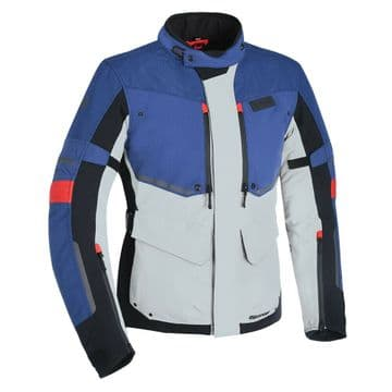 Oxford Mondial Advanced Laminate Waterproof Motorcycle Motorbike Jacket Grey Red