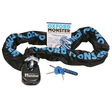 Oxford OF17 Monster Motorcycle Ultra Strong 14mm Chain and Padlock 1.5m (OF802)