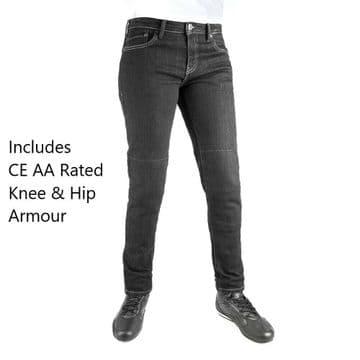 Oxford Original Approved Ladies Slim Black AA Rated Motorcycle Motorbike Jeans