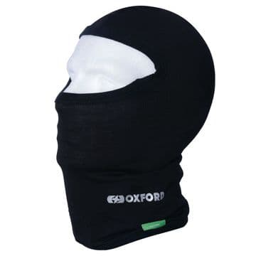 Oxford Products Essential Motorcycle Motorbike Cotton Balaclava - Black
