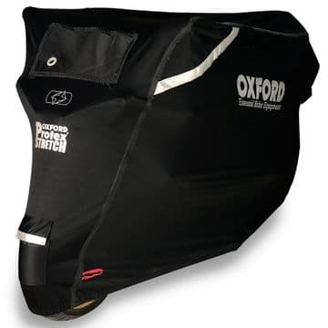 Oxford Protex Stretch Outdoor Premium Motorcycle Scooter Stretch-Fit Cover Small
