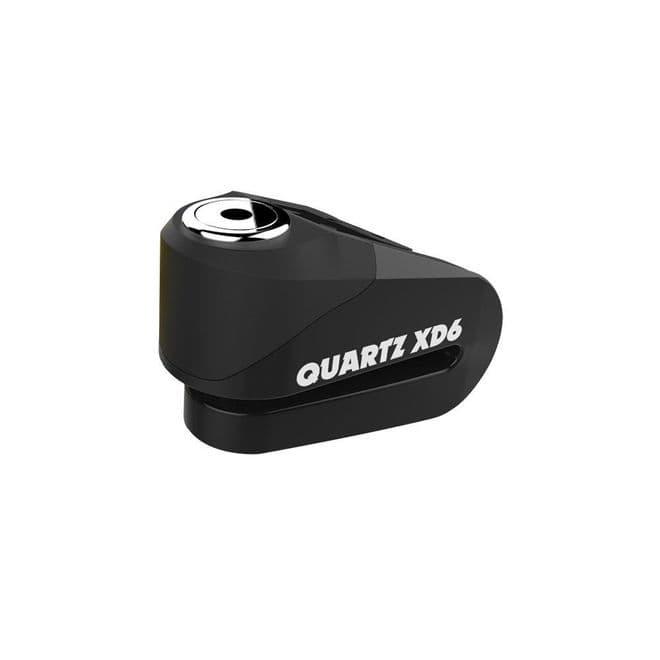 Oxford Quartz XD6 Motorcycle disc lock 6mm pin Black LK266 Free Minder Cable