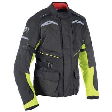 Oxford Quebec 1.0 Waterproof Adventure Motorcycle Motorbike Jacket Black & Fluo