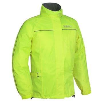 Oxford Rainseal Waterproof Motorcycle Motorbike Over Jacket - Fluo - RM110