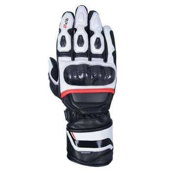 Oxford RP-2 v2 Sports Leather Motorcycle Motorbike Gloves Tech Black White Red