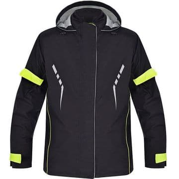 Oxford Stormseal Motorcycle Over Jacket - Black / Fluo Yellow - XL