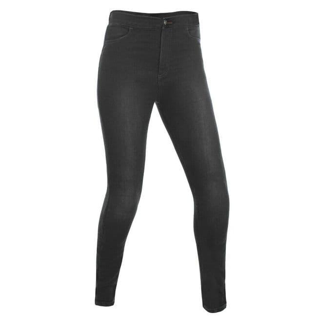 Oxford Super Jeggings Womens Ladies Fully Kevlar Lined Motorcycle Leggings Black
