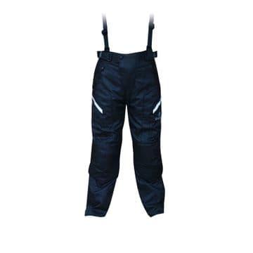 Oxford T14 Spartan Waterproof Textile Motorcycle Trousers Black