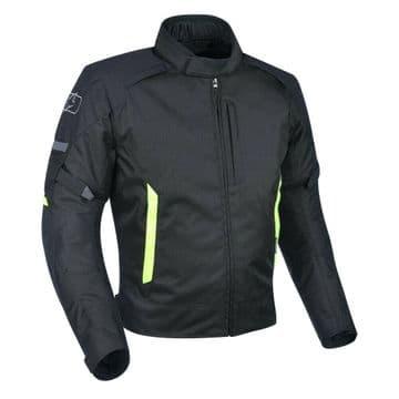 Oxford Toledo 2.0 Waterproof Textile Motorcycle Motorbike Jacket Black Fluo