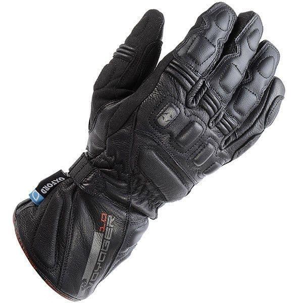 Oxford Voyager Waterproof Leather Motorcycle Gloves - Black