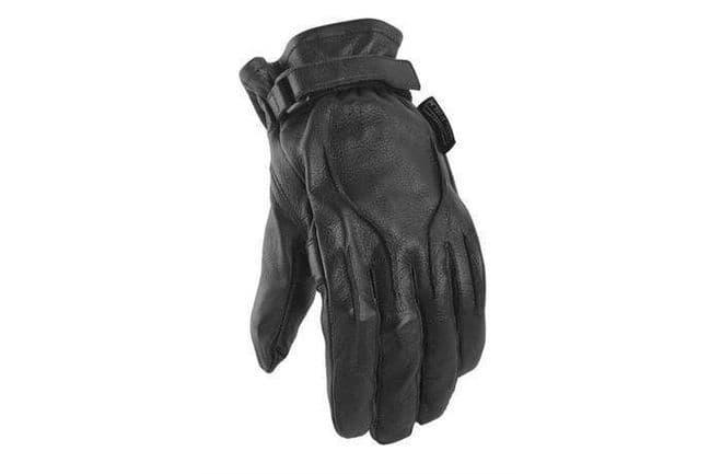Power Trip Jet Leather Motorcycle Motorbike Cruiser Gloves Gel Palm