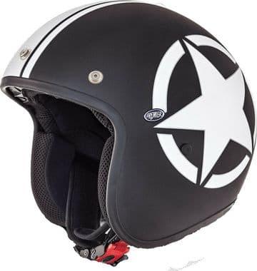 Premier Jet Fiber Motorcycle Bike Helmet Le Petit Classic Star 9 BM Matt Black