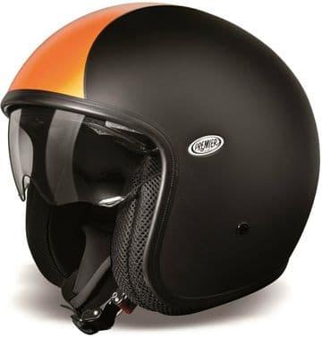 Premier Vintage DLBM Carbon Composite Motorcycle Motorbike Open Face Helmet